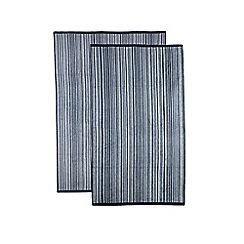 The Fine Linens Company - Blue variegated stripe towel