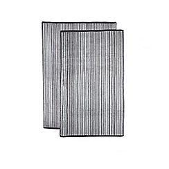 The Fine Linens Company - Grey variegated stripe towel