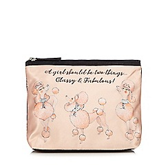 Janet Reger Home - Pale pink poodle wash bag