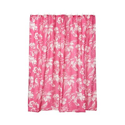 Butterfly Home By Matthew Williamson Pink Birds Of Paradise Shower Curtain Debenhams