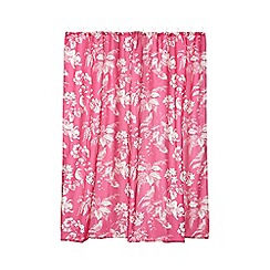 Butterfly Home by Matthew Williamson - Pink birds of paradise shower curtain