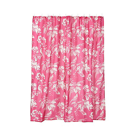 Butterfly Home by Matthew Williamson Pink birds of paradise shower ...