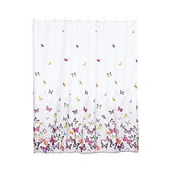 Butterfly Home by Matthew Williamson - Grey butterfly shower curtain