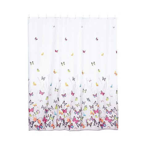Curtains Ideas butterfly shower curtain : Butterfly Home by Matthew Williamson Grey butterfly shower curtain ...