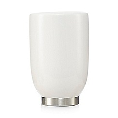 Home Collection - White ceramic toothbrush holder
