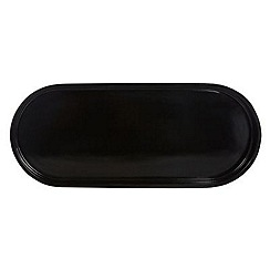 J by Jasper Conran - Designer black rounded accessories tray