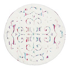 Butterfly Home by Matthew Williamson - White swirl-effect bathmat
