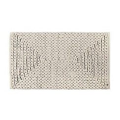 RJR.John Rocha - Designer natural plaited bath mat