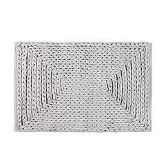 RJR.John Rocha - Designer grey plaited bath mat