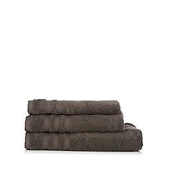 Christy - Dark grey striped towel