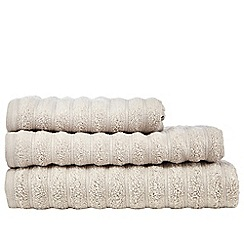 J by Jasper Conran - Natural striped towel