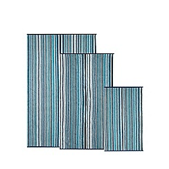 Christy - Blue striped hand towel