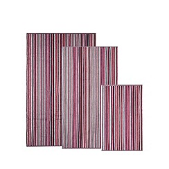 Christy - Pink striped hand towel