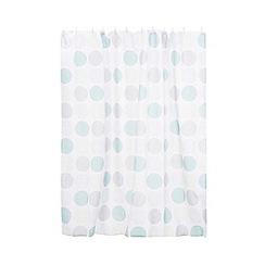 Collection Basics - Blue spot shower curtain