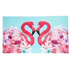 Butterfly Home by Matthew Williamson - Pink flamingo print beach towel