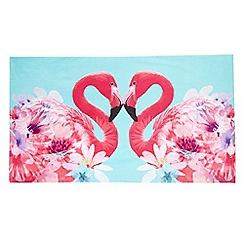 Butterfly - Matthew Williamson - Pink flamingo print beach towel