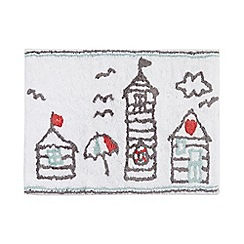 Ben de Lisi Home - White beach hut bath mat