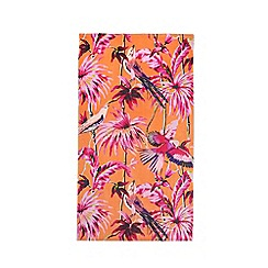 Butterfly Home by Matthew Williamson - Orange hummingbird floral print beach towel