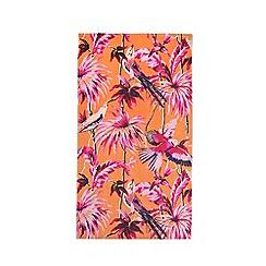 Butterfly Home by Matthew Williamson - Orange hummingbird floral print beach towel
