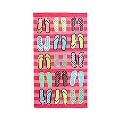 Ben De Lisi - Pink flip flops towel