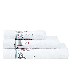 Ben de Lisi Home - White beach huts towel