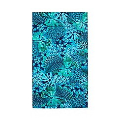 Butterfly Home by Matthew Williamson - Blue under water butterfly beach towel