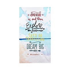 Ben de Lisi Home - Aqua 'go explore' leisure beach towel