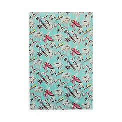 Butterfly Home by Matthew Williamson - Aqua tropical print towel