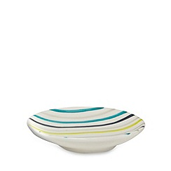 Ben de Lisi Home - Blue striped soap dish