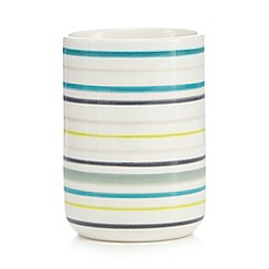 Ben de Lisi Home - White striped toothbrush holder