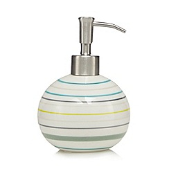 Ben de Lisi Home - White striped soap dispenser