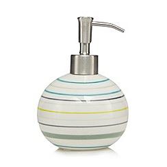 Ben de Lisi Home - White striped soap dispenser
