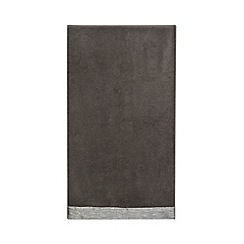 Star by Julien Macdonald - Grey metallic border hand towel
