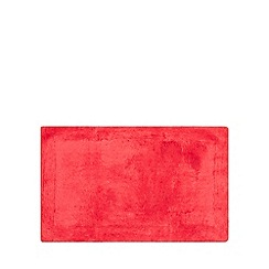 Home Collection - Dark red cotton tufted bath mat