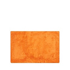 Home Collection - Orange cotton tufted bath mat