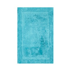 Home Collection - Bright turquoise cotton tufted bath mat