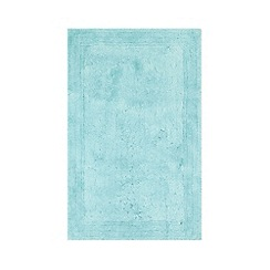 Home Collection - Light blue cotton tufted bath mat