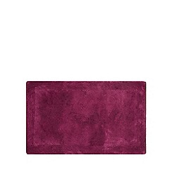 Home Collection - Dark purple cotton tufted bath mat