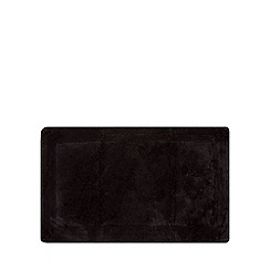Home Collection - Black cotton tufted bath mat