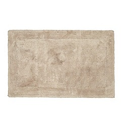 Home Collection - Taupe cotton tufted bath mat