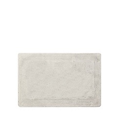 Home Collection - Silver cotton tufted bath mat