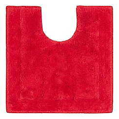 Home Collection - Dark red cotton tufted pedestal mat