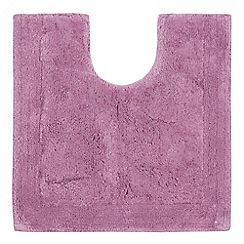 Home Collection - Mauve cotton tufted pedestal mat