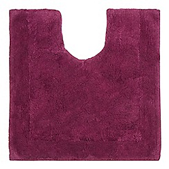 Home Collection - Dark purple cotton tufted pedestal mat