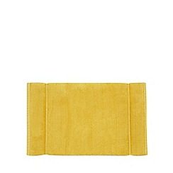 J by Jasper Conran - Dark yellow cotton bath mat