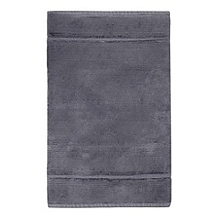 J by Jasper Conran - Dark extra large dark grey cotton bath mat
