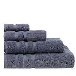 J by Jasper Conran - Dark blue 'Hotel' luxury Turkish cotton towels
