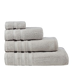 J by Jasper Conran - Silver 'Hotel' luxury Turkish cotton towels