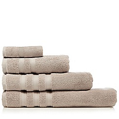 J by Jasper Conran - Taupe 'Hotel' luxury Turkish cotton towels