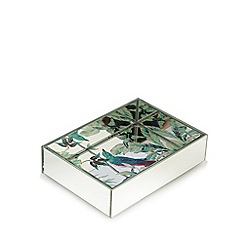 Butterfly Home by Matthew Williamson - Silver mirror floral soap dish